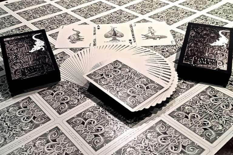 Black Gatorbacks Playing Cards by David Blaine Alt2