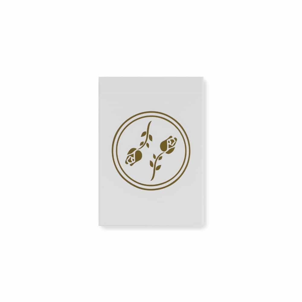 Black Roses White Gold Playing Cards Limited Edition Galerie