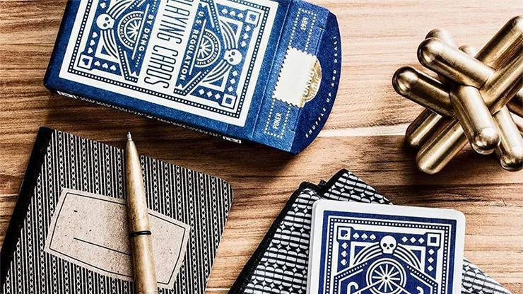 Blue Wheel Playing Cards by Art of Play Alt2