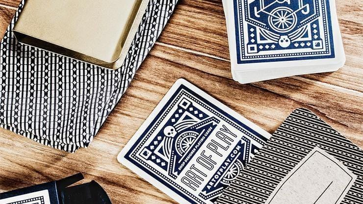 Blue Wheel Playing Cards by Art of Play Alt3
