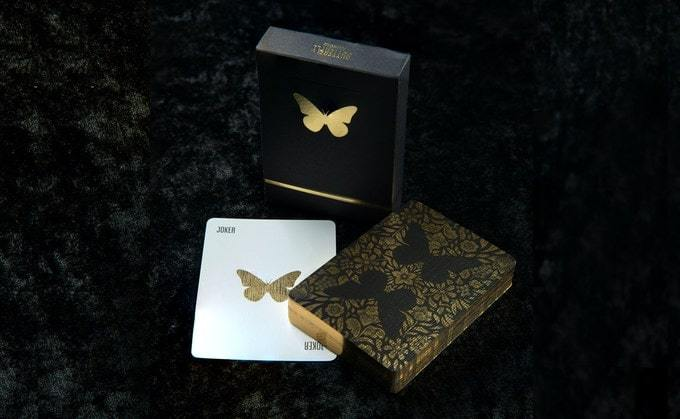 Butterfly Playing Cards Black - Gold2