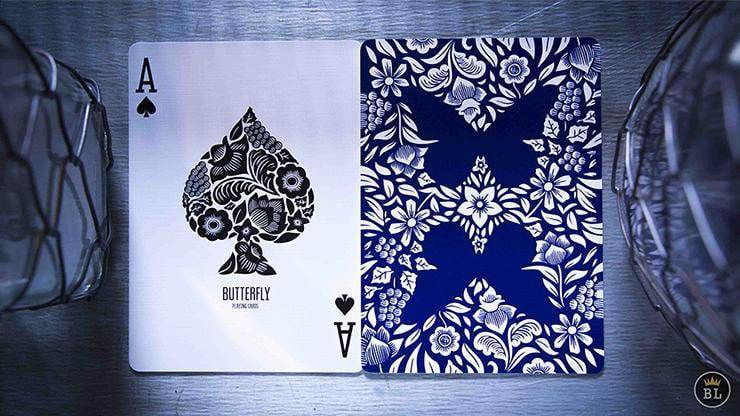 Butterfly Playing Cards Blue Alt3
