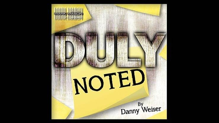 DULY NOTED by Danny Weiser Alt1
