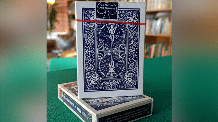 Experts-Thin-Crushed-Printed-on-Web-Press-Rider-Back-Back-Blue-Playing-Cards-