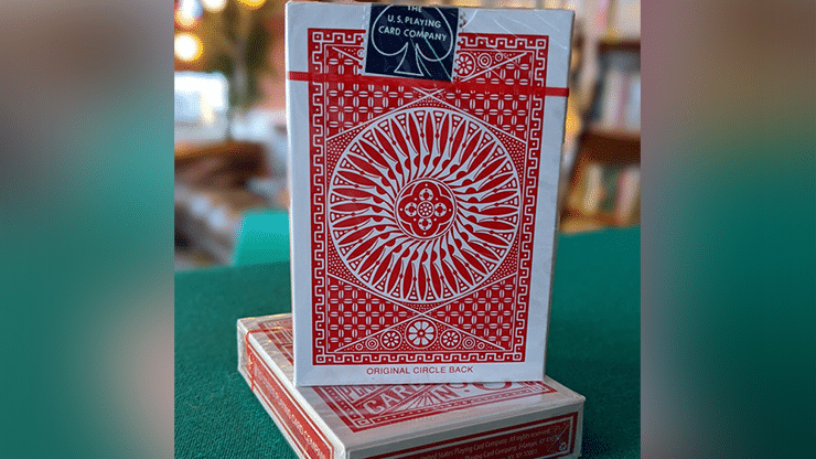 Experts-Thin-Crushed-Printed-on-Web-Press-Tally-Ho-Circle-Back-Red-Playing-Cards-