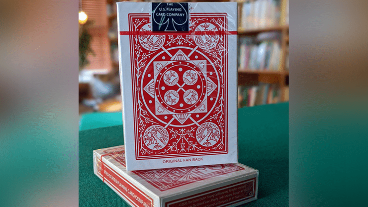Experts-Thin-Crushed-Printed-on-Web-Press-Tally-Ho-Fan-Back-Red-Playing-Cards-