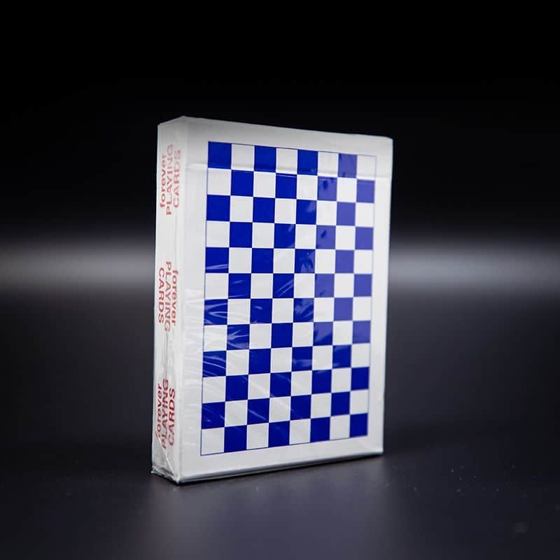 Forever Checkerboards Blue Anyone Worldwide Playing Cards Alt1