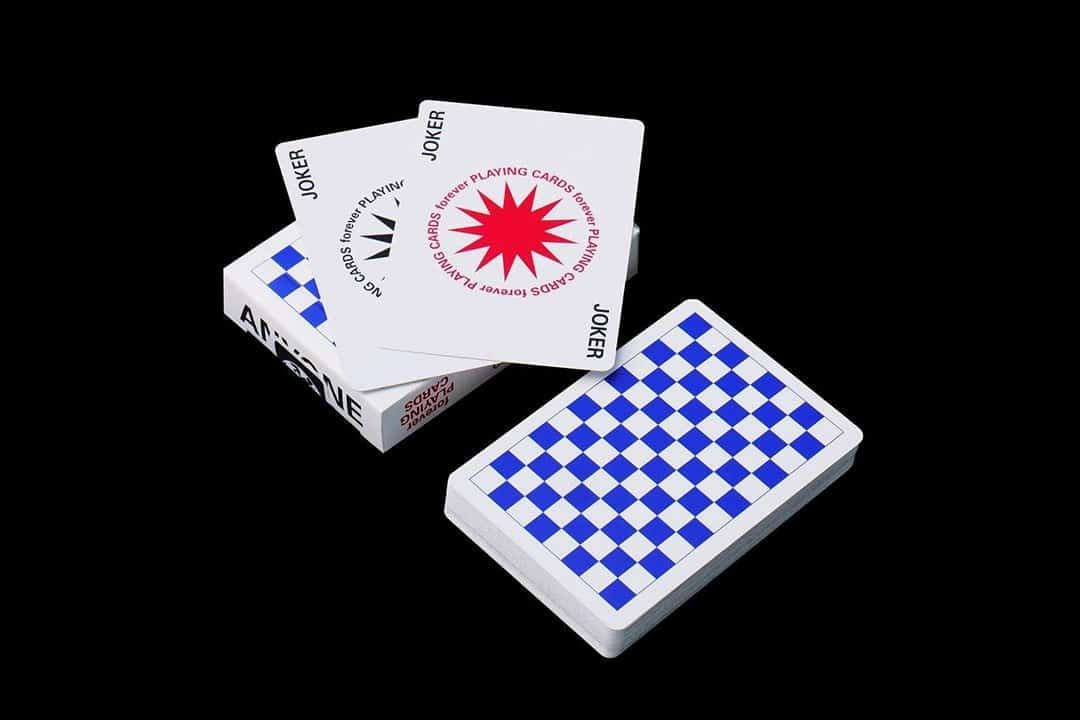 Forever Checkerboards Blue Anyone Worldwide Playing Cards Alt2