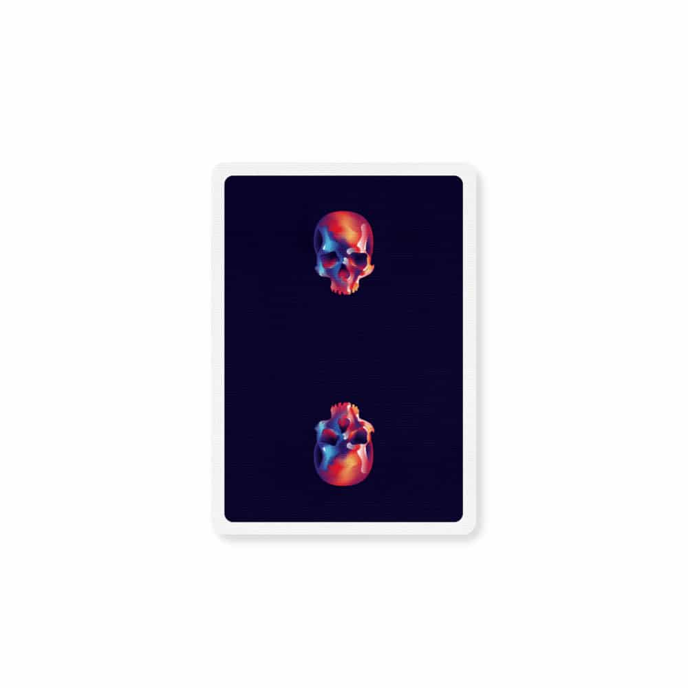 Furious Skull Playing Cards by Riffle Shuffle Galerie