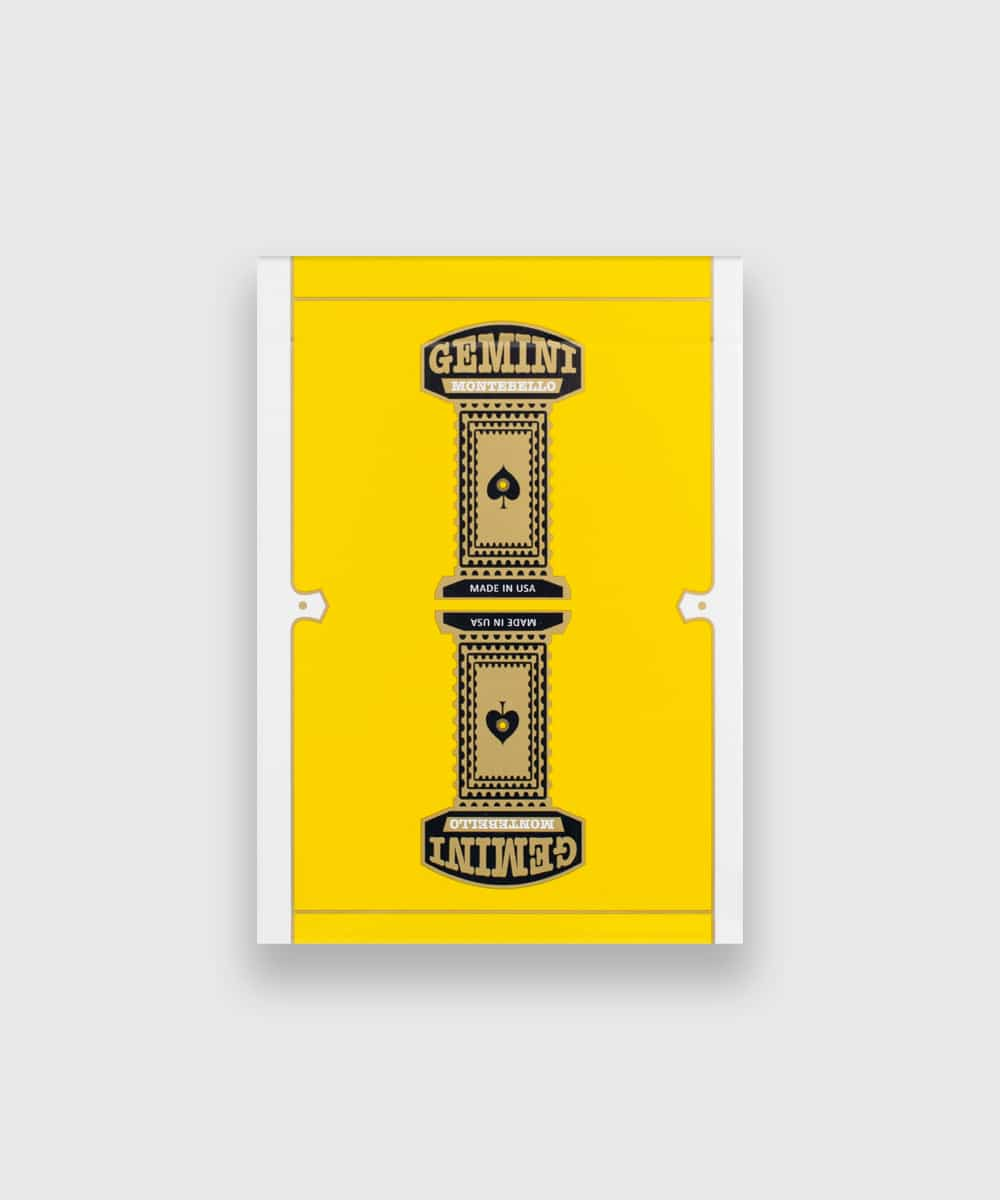 Gemini Casino Yellow Playing Cards Galerie