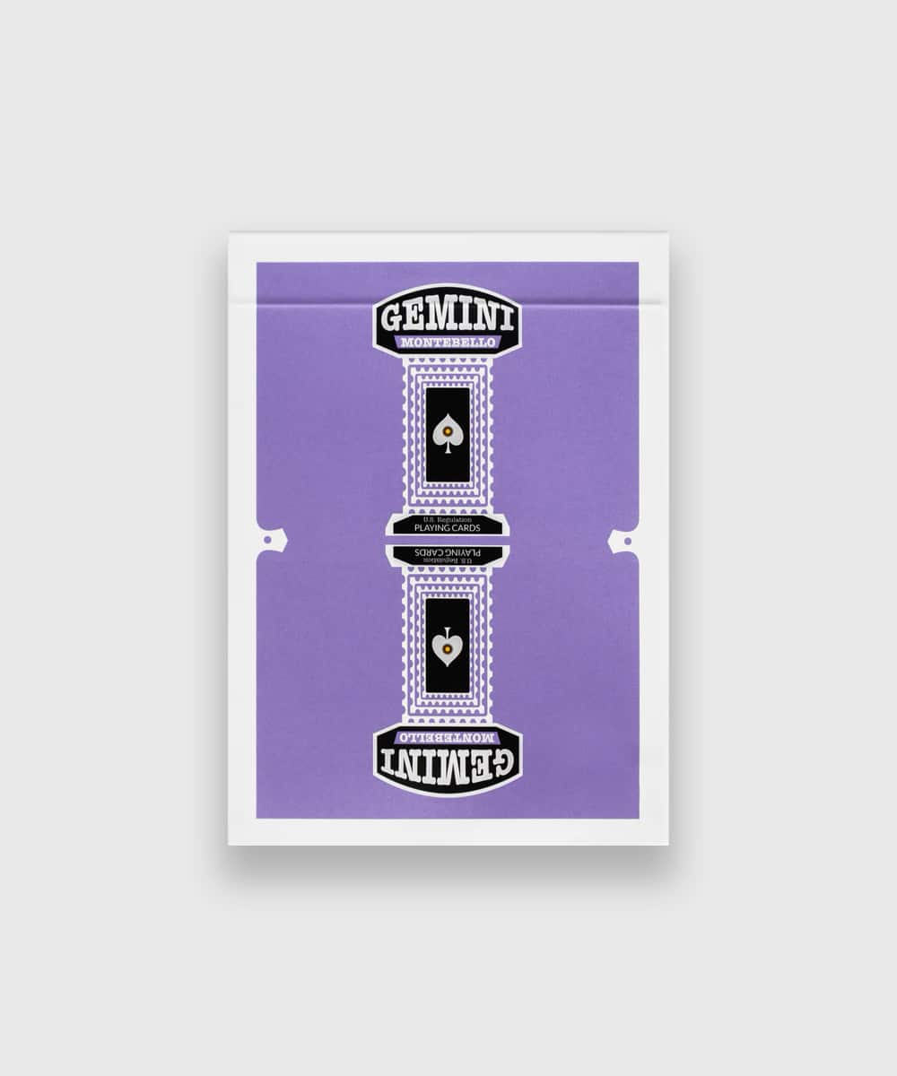 Gemini Purple Playing Cards Galerie