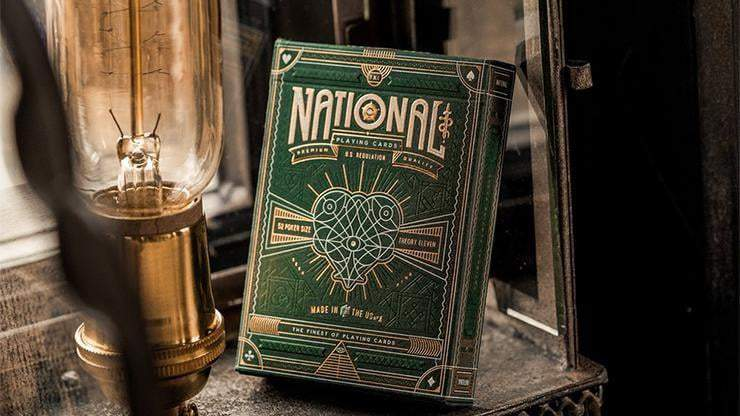 Green National Playing Cards by theory11 Alt1