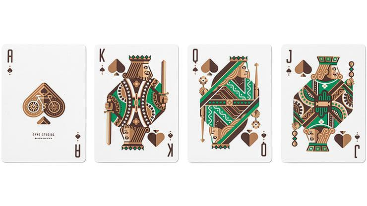 Green Wheel Playing Cards by Art of Play Alt4