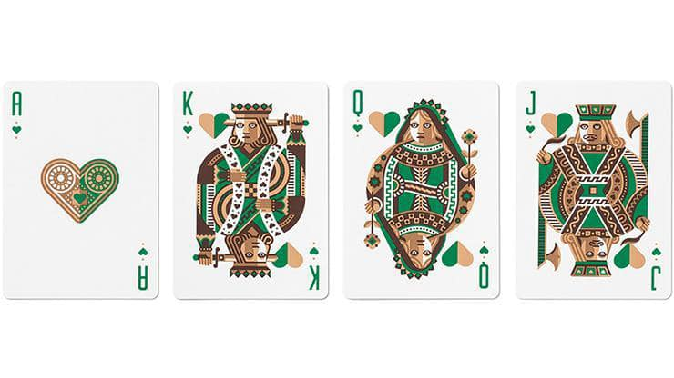 Green Wheel Playing Cards by Art of Play Alt5