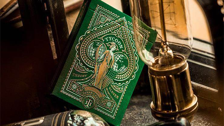 Limited Edition Green Tycoon Playing Cards Alt1