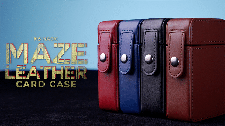MAZE-Leather-Card-Case-Red-by-Bond-Lee-Alt2