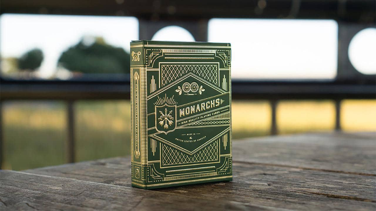 Monarch Playing Cards (Green) by theory11 Alt1