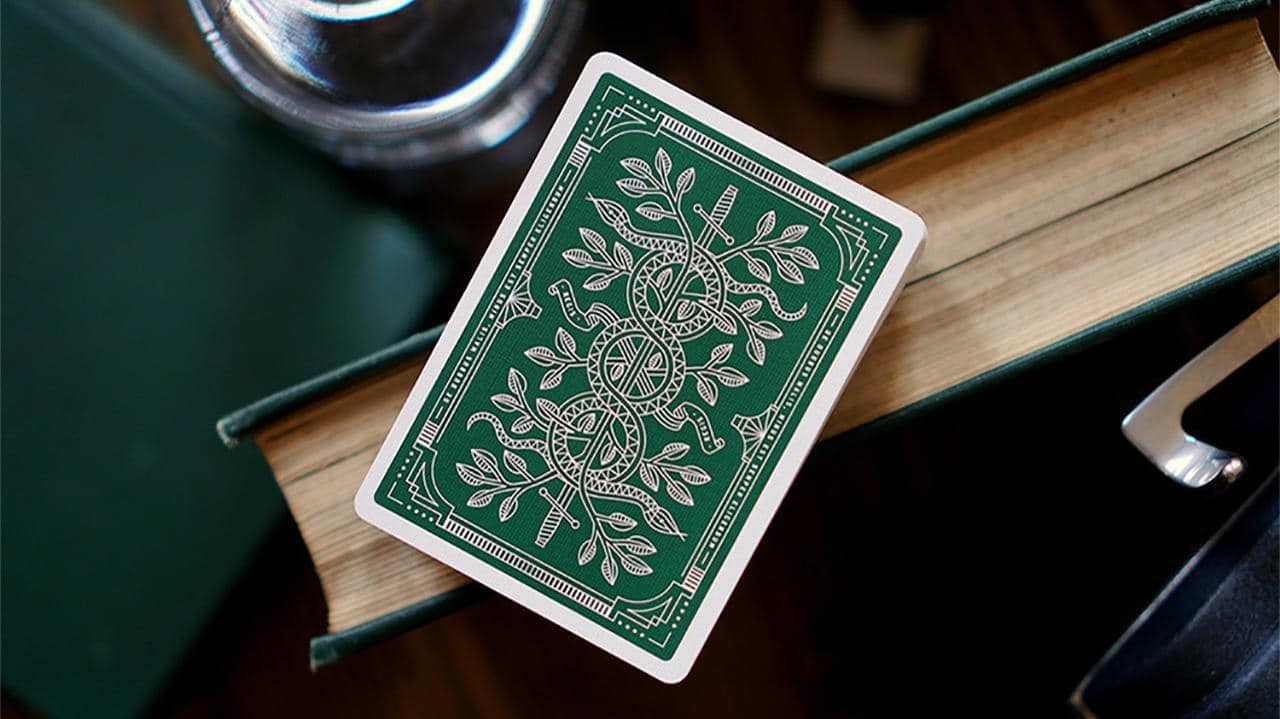 Monarch Playing Cards (Green) by theory11 Alt2