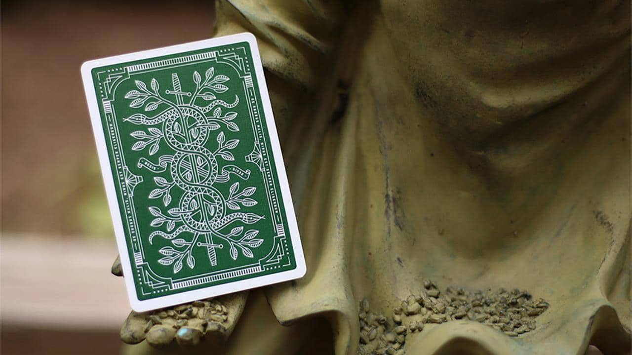 Monarch Playing Cards (Green) by theory11 Alt3