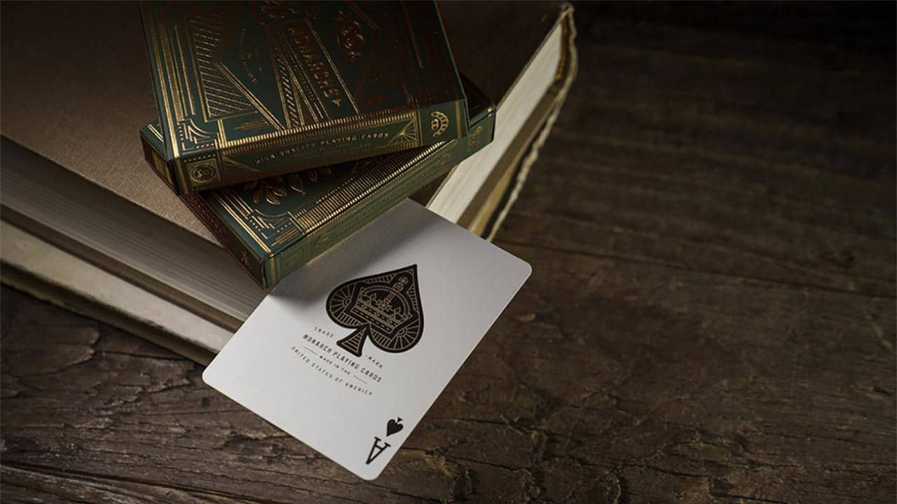 Monarch Playing Cards (Green) by theory11 Alt4