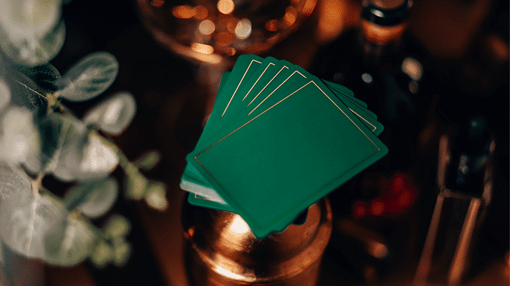 NOC Out Green and Gold Playing Cards Alt4