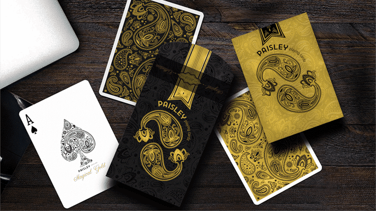 Paisley Magical Black Playing Cards Alt1