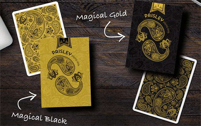 Paisley Magical Gold Playing Cards Alt2