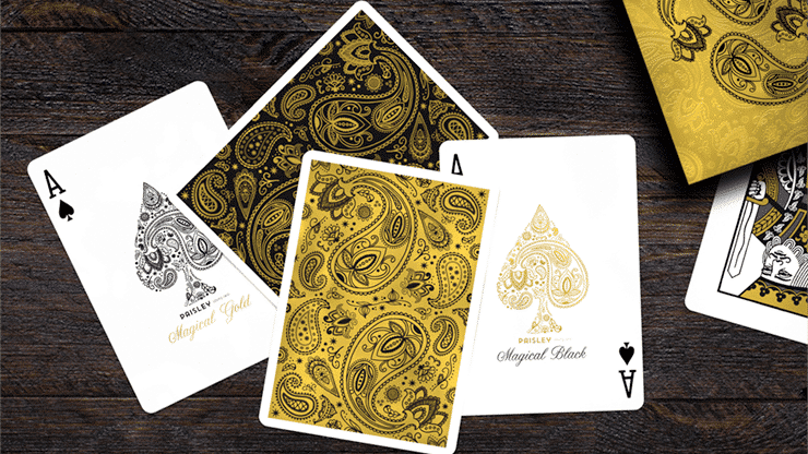 Paisley Magical Gold Playing Cards Alt3