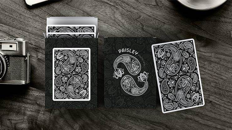 Paisley Playing Cards Workers Deck Black Alt1