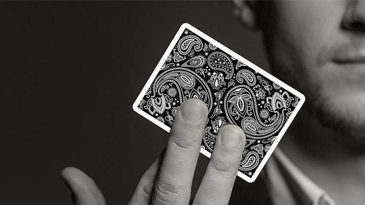 Paisley Playing Cards Workers Deck Black Alt2