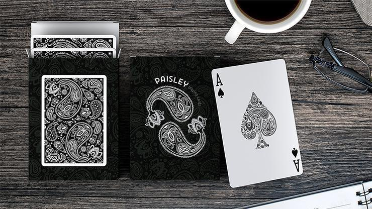 Paisley Playing Cards Workers Deck Black Alt3