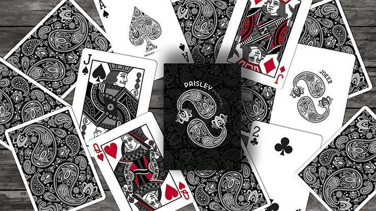 Paisley Playing Cards Workers Deck Black Alt4