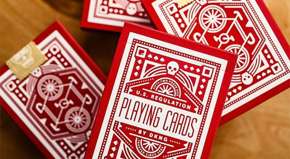 Red Wheel Playing Cards by Art of Play Alt1
