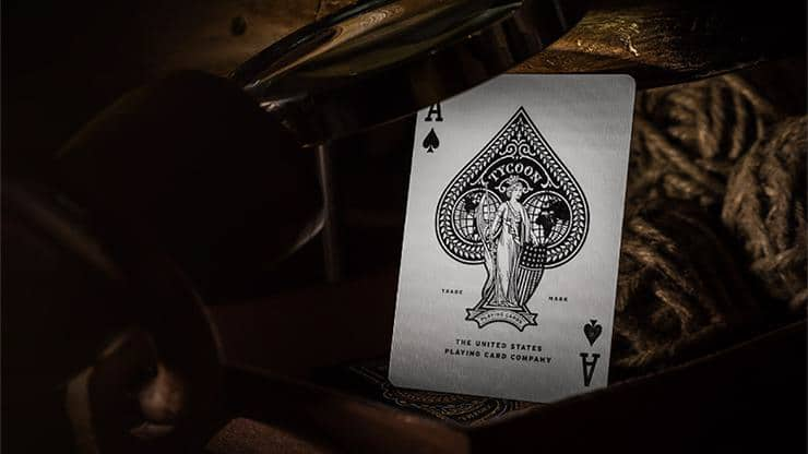 Tycoon Playing Cards (Black) by theory11 Alt5