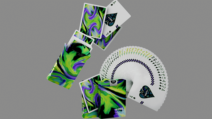 Ultra Green Playing Cards by Gemini Alt4