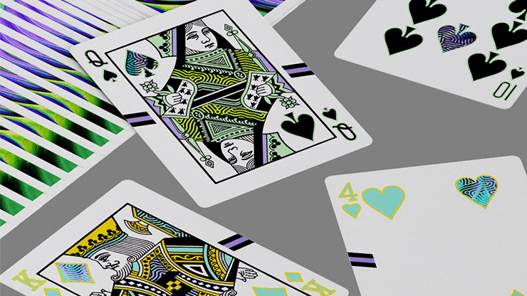 Ultra Green Playing Cards by Gemini Alt6