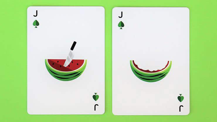 Watermelon Playing Cards Created by FLAMINKO Playing Cards Alt3