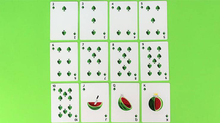Watermelon Playing Cards Created by FLAMINKO Playing Cards Alt5