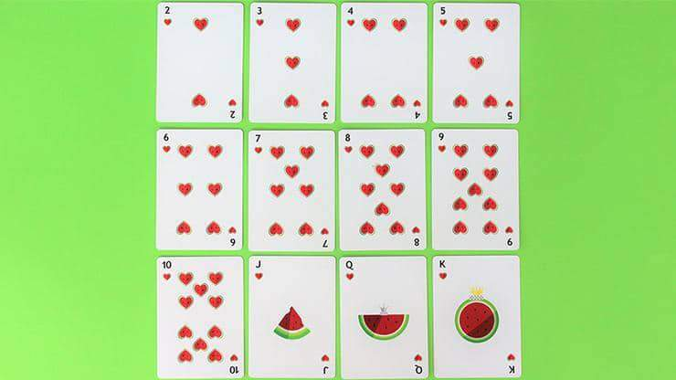 Watermelon Playing Cards Created by FLAMINKO Playing Cards Alt6