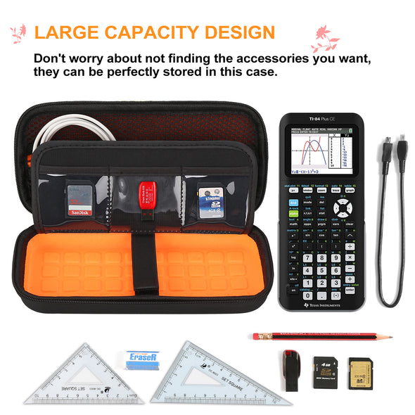 BOVKE Carry Case for Texas Instruments TI-84 Plus CE Calculator