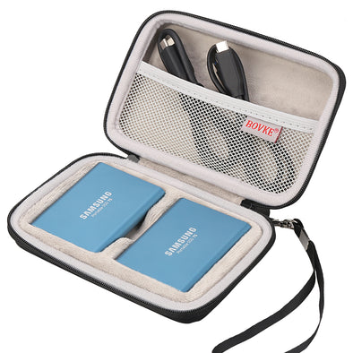 BOVKE 2-in-1 Travel Case for Samsung T5 T3 T1 Hard Drives
