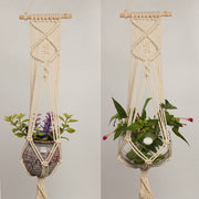 1pc Large sized Plant Hanger Basket Handmade Rope Pots Holder Fine