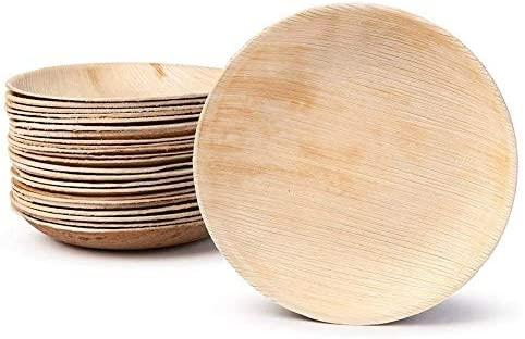 "Palm Leaf Plates Round 8"" Inch (Set of 25/50/100)"