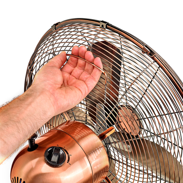 Floor Fan - Adjustable Height - Copper