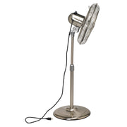 Floor Fan - Adjustable Height - Stainless