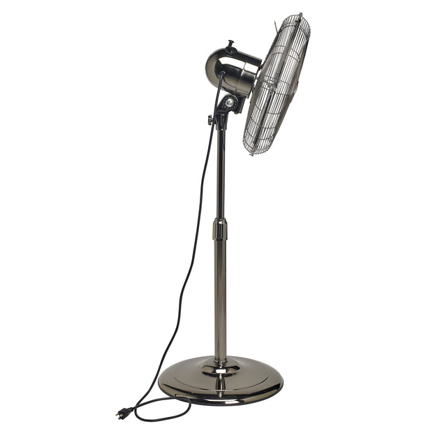 Floor Fan - Adjustable Height - Pearl Black