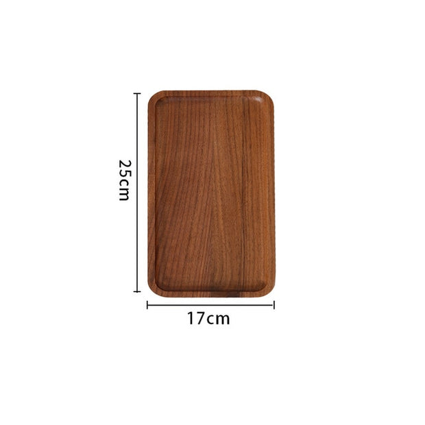 Premium Walnut Wood Serving Tray - Butler Breakfast Tray, For Meat Cheese and Vegetables