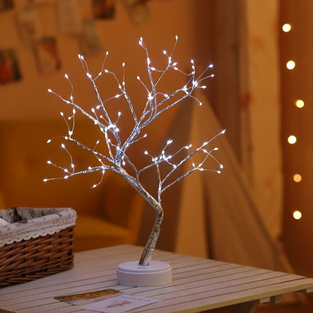 Tree Copper Wire Garland Lamp