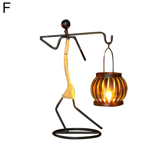 Abstract Iron Figure Candle Holder