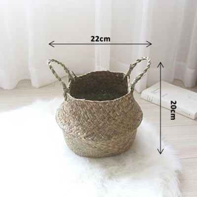 Weaved Rattan Flower Baskets